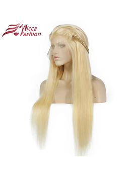 Dream Beauty #613 Blonde Wigs 130 Percents  Density Silky Straight Brazilian Remy Human Hair Lace Front Wig  by Dream Beauty