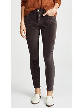 Le Velveteen High Skinny Jeans by Frame
