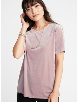 Relaxed Velvet Tee For Women by Old Navy
