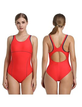 Joyaria Women's One Piece Athletic Swimsuits Sports Racerback Swimwear Racing Training Bathing Suit by Joyaria