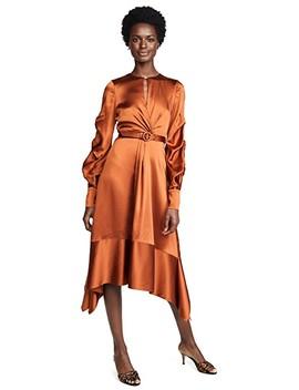 Satin Keyhole Midi Dress by Jonathan Simkhai