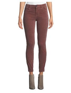 Maria High Rise Velvet Skinny Pants by J Brand