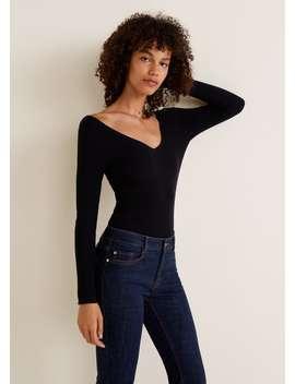 Jeans Flare Costuras Decorativas by Mango