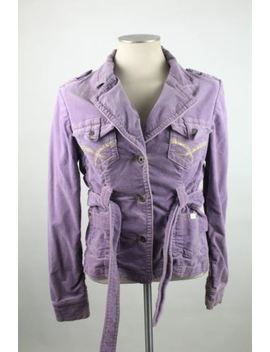 Baby Phat Women's Jacket Size Large Tyrolean Solid Lilac Lavender Long Sleeve by Baby Phat