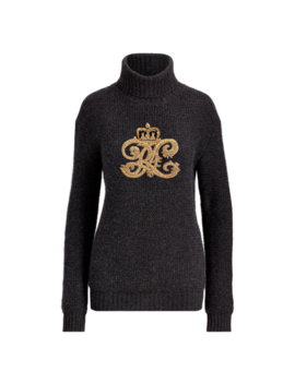 Embroidered Crest Turtleneck by Ralph Lauren