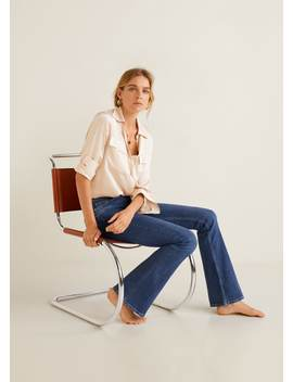 Jeans Flare High Waist by Mango
