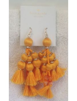 Kate Spade New York Pretty Poms Tassel Statement Earrings  Bright Yellow   New by Ebay Seller