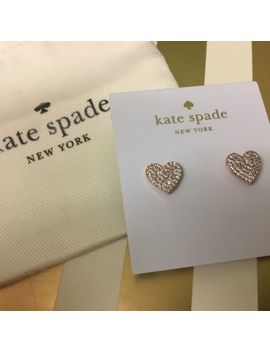 Brand New Kate Spade Crystal Heart Earrings by Ebay Seller