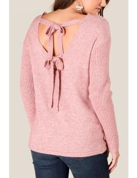 Angela Bow Back Sweater by Francesca's