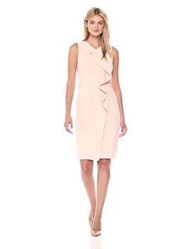 Calvin Klein Women's Sleeveless Dress With Ruffle, by Calvin+Klein