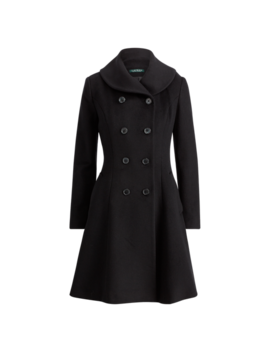 Wool Fit And Flare Coat by Ralph Lauren