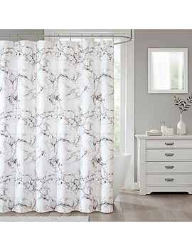 Marble Shower Curtain In Silver by Bed Bath And Beyond