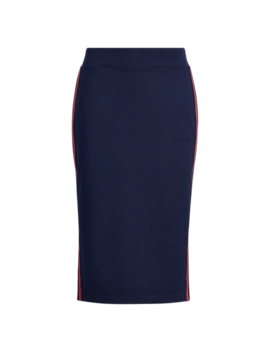 Side Stripe Cotton Blend Skirt by Ralph Lauren