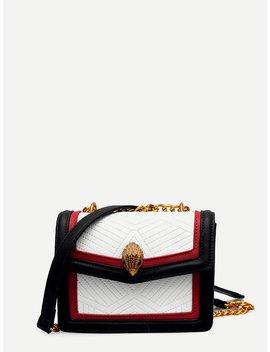 Contrast Trim Flap Bag by Romwe