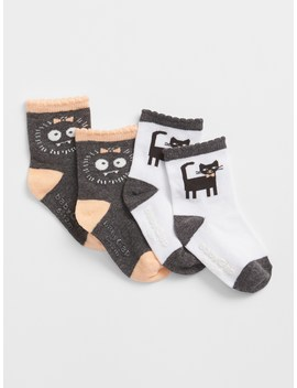 Graphic Crew Socks (2 Pack) by Gap