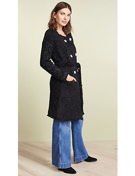 Boucle Double Breasted Coat by Jason Wu Grey