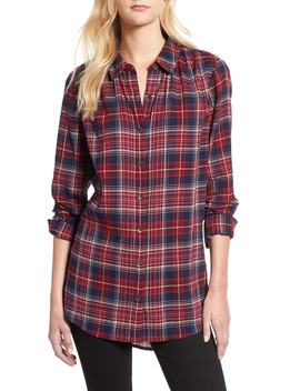 Plaid Tunic Shirt by Caslon