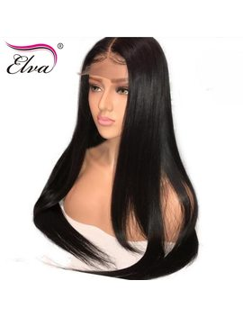 Elva Hair 250 Percents Density 360 Lace Frontal Wig Pre Plucked With Baby Hair Straight Brazilian Lace Front Human Hair Wigs Remy Hair by Elva Hair