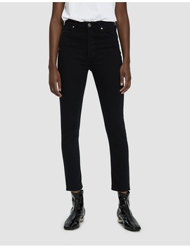 High Rise Slim Jean In Slater by Goldsign