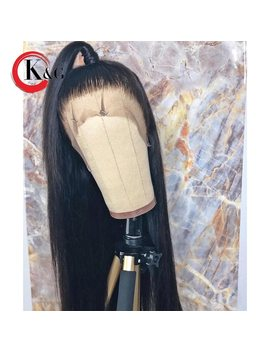 Kungang Straight Lace Front Human Hair Wigs Free Part Bleached Knots Brazilian Remy Hair Wig With Baby Hair For Women by Kun Gang