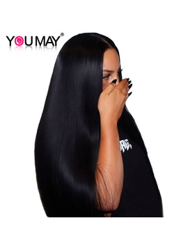 13x4 Lace Front Human Hair Wigs With Baby Hair 250 Percents Density Straight Lace Front Wigs Brazilian Remy Hair Bleached Knots You May by You May