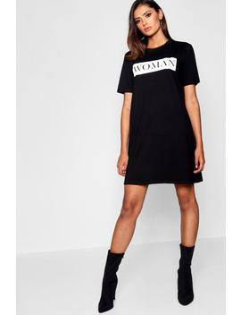 Tall Woman Oversized T Shirt Dress by Boohoo