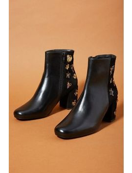 Anthropologie Embellished Booties by Anthropologie