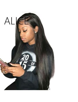 Alice Hair Straight Human Hair Wigs 130 Percents Glueless Full Lace Human Hair Wigs With Baby Hair Remy Pre Plucked Full Lace Wigs by Alice