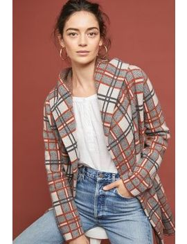 Plaid Sweater Coat by Field Flower