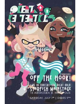 Off The Hook Concert Poster Splatoon 2 Artist Print Illustration by Finni Chang