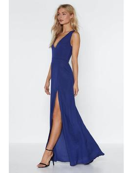 The Maxi Of Life Slit Dress by Nasty Gal
