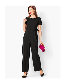 Tailored Crepe Wide Leg Jumpsuit by Talbots