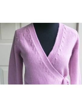 Soft Pink Mauve Angora Ann Taylor Ballet Wrap Sweater Top Xs by Ann Taylor