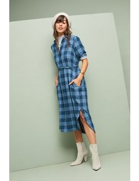 Buffalo Plaid Shirtdress by Birds Of Paradis By Trovata