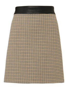 Krisa Houndstooth Mini Skirt by A.L.C.