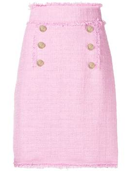 Tweed Double Breasted Skirt by Msgm