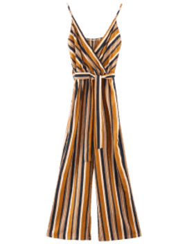 Striped Cami Palazzo Jumpsuit   Multi M by Zaful