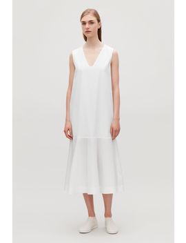 Cotton Poplin Sleeveless Dress by Cos