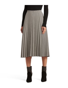 New York A Line Pleated Midi Skirt by Donna Karan