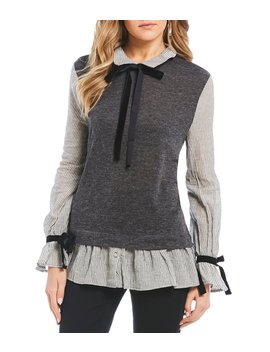 Faux Sweater Vest Top by Blu Pepper