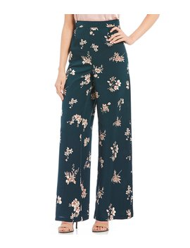 Floral Wide Leg Pants by Blu Pepper