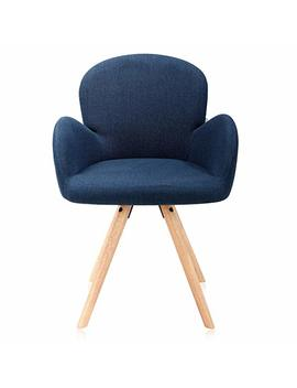Krei Hejmo Wooden Armchairs In Fabric/ Leather Pupdomo (Prussian Blue) by Dr.Lomilomi