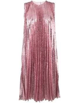 Sequin Pleated Insert Dress by Msgm