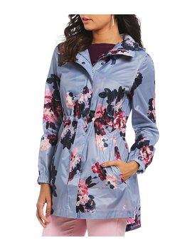 Golightly Waterproof Pack A Way Floral Printed Rain Jacket by Joules