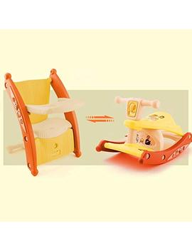 Rapesee Multifunction Child Kids Portable Rocking Horse And Baby Dining Table Chair With Light And Music For Dual Use (Yellow) by Rapesee
