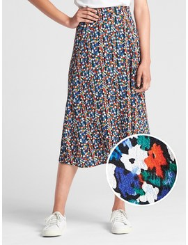 Floral Print Midi Skirt by Gap