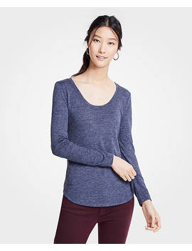 Petite Scoop Neck Long Sleeve Tee by Ann Taylor
