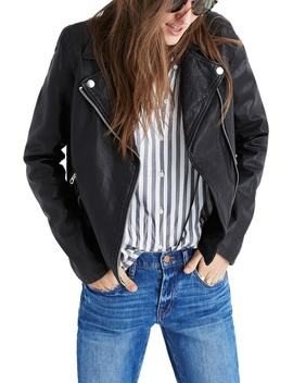 Washed Leather Moto Jacket by Nordstrom