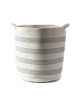 """Cotton Rope Woven Basket   Tidy Loft Co   16"""" X 13"""" With Handles, For Toy Organization, Blanket Storage, Laundry Or Baby Nursery by Tidy Loft Co."""
