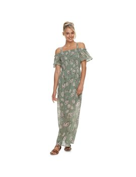 Juniors' As U Wish Off The Shoulder Maxi Dress by Kohl's